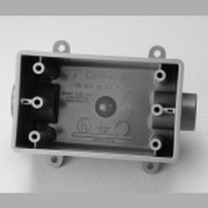 Carlon E9811FN Deep 1-Gang FDC Device Box; 2.990 Inch Depth, Non-Metallic, 25 Cubic-Inch, Gray, 1 Inch Hub