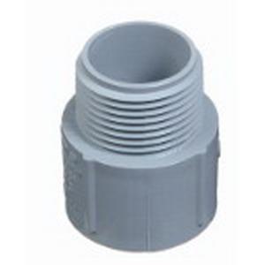 Carlon E943R SCH 40 Terminal Adapter; 6 Inch, MNPT x Socket, 3.410 Inch Length, PVC