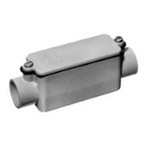 Carlon E987D Type C Non-Metallic Conduit Body; 1/2 Inch, Rigid PVC