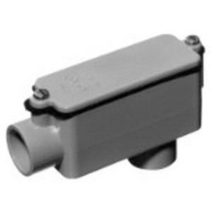 Carlon E986N Type LB Conduit Body; 4 Inch, Rigid PVC