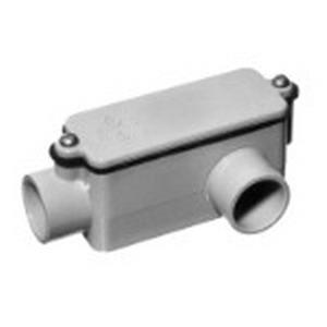 Carlon E984J Type LL Conduit Body; 2 Inch, Rigid PVC