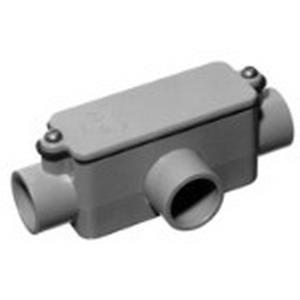 Carlon E983J Type T Conduit Body; 2 Inch, Rigid PVC
