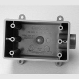 Carlon E9801DN Deep 1-Gang FDE Device Box; 2.990 Inch Depth, Non-Metallic, 25 Cubic-Inch, Gray, 1/2 Inch Hub
