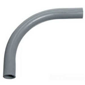 Carlon UA9AP SCH 40 90 Degree Rigid Non-Metallic Elbow; 5 Inch, Plain, PVC