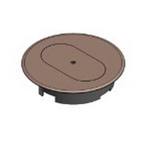 Carlon E97DSC Duplex Round Floor Box Cover; Thermoplastic, Caramel