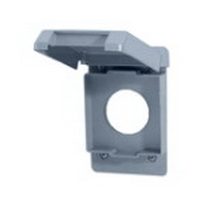 Carlon E98G20N Receptacle 1-Gang Weatherproof Cover; Polycarbonate, Gray