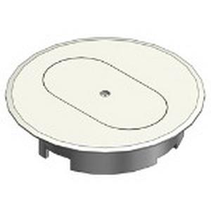 Carlon E97DSI Duplex Floor Box Cover; Thermoplastic, Ivory