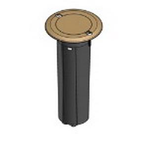 Carlon E971FBDIB-2 1-Gang Drop-In Round Floor Box; PVC Box, Brass Cover, 11.8 Cubic-Inch, Brass