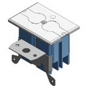 Carlon B121BFBRW Adjust-A-Box 1-Gang Non-Metallic Rectangular Floor Box Kit; Wood, 20 Cubic-Inch, White