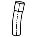 Carlon UA3FNB SCH 40 11.25 Degree Rigid Non-Metallic Elbow; 4 Inch, Belled, PVC