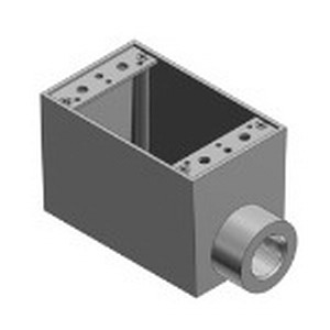 Red Dot ADFS-1 Dry-Tite® Dead-End 1-Gang FS Device Box; 3-1/16 Inch Depth, Die-Cast Aluminum, 31.3 Cubic-Inch, 1/2 Inch Hub