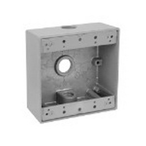 Red Dot 2IH3-2 2-Gang Universal Weatherproof Device Box; 2-1/16 Inch Depth, A380 Die-Cast Aluminum Alloy, 31.8 Cubic-Inch, Silver