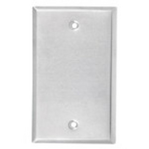 Red Dot CCB Dry-Tite® Blank 1-Gang Weatherproof Cover; Die-Cast Aluminum, Silver