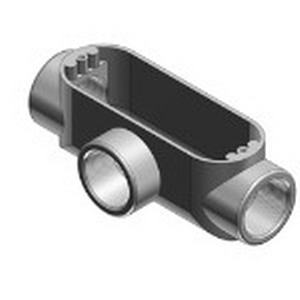 Red Dot AT-3 Type T Conduit Body; 1 Inch, Threaded, Die-Cast Aluminum