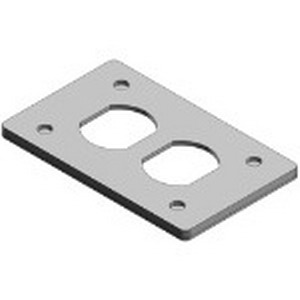 Red Dot CDR Dry-Tite® Duplex Receptacle 1-Gang FS/FD Cover; Die-Cast Aluminum