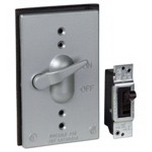 Red Dot CCT-1-20 Switch 1-Gang Weatherproof Cover; Die-Cast Aluminum, Silver