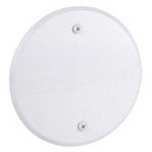 Red Dot CCRB Blank Round Weatherproof Cover; Stamped Aluminum, White