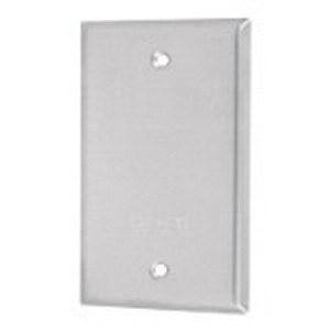 Red Dot DCCB D-Pak® Blank 1-Gang Weatherproof Cover; Die-Cast Aluminum, Silver