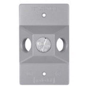Red Dot DLC-31 D-Pak® 3-Hole 1-Gang Weatherproof Cover; Die-Cast Aluminum, Silver, 1/2 Hole