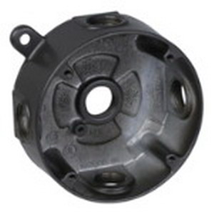 Red Dot DS-47-BR D-Pak® Round Weatherproof Outlet Box; 4-1/8 Inch Dia, Die-Cast Aluminum, 17 Cubic-Inch, Bronze