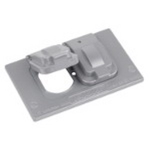 Red Dot DCCD D-Pak® Dry-Tite® Duplex Receptacle 1-Gang Weatherproof Cover ; Die-Cast Aluminum, Silver