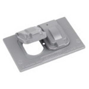 Red Dot DCCD-BR D-Pak® Duplex Receptacle 1-Gang Weatherproof Cover ; Die-Cast Aluminum, Bronze