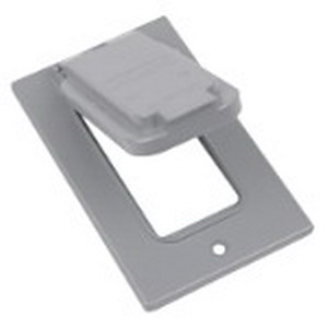 Red Dot DCCGV-BR D-Pak® GFCI Receptacle 1-Gang Weatherproof Cover; Die-Cast Aluminum, Bronze