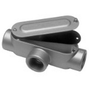 Red Dot DAT-2-CG Type T Conduit Body With Cover and Gasket; 3/4 Inch, Threaded, Die-Cast Aluminum