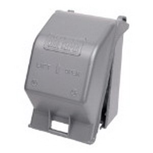 Red Dot CKMUV Duplex/GFCI/Switch/Single Receptacle Extra-Duty 1-Gang Weatherproof Universal While-In-Use Cover; Die-Cast Aluminum, Silver