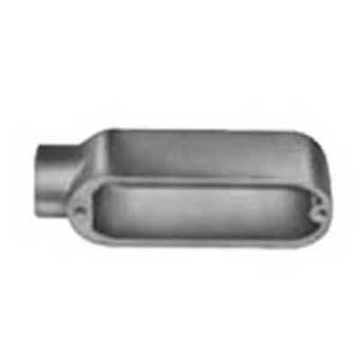 Red Dot AE-1 Type E Dead-End Conduit Body; 1/2 Inch, Threaded, Die-Cast Aluminum
