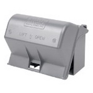 Red Dot CKMU Receptacle 1-Gang While-In-Use Universal Weatherproof Cover; Die-Cast Aluminum, Silver