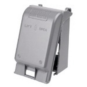 Red Dot CKSUV Receptacle 1-Gang While-In-Use Universal Weatherproof Cover; Die-Cast Aluminum, Silver
