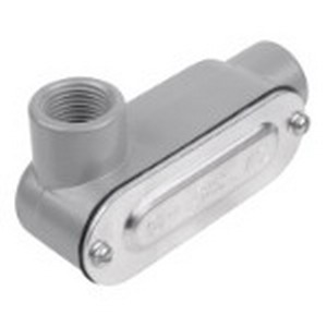 Red Dot DALL-1-CG D-Pak® Type LL Conduit Body With Cover and Gasket; 1/2 Inch, Threaded, Die-Cast Aluminum