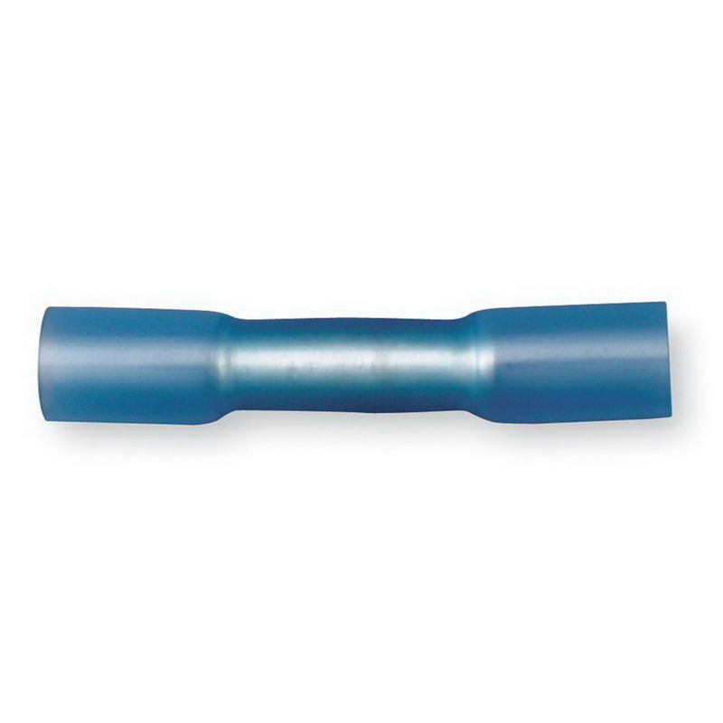 3M MH14BCX Scotchlok™ Standard Heat Shrink Butt Connector; 16-14 AWG, Blue, 25/Bottle