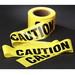 3M 300 Barricade Tape; 3 Inch Width x 1000 ft Length, Yellow, Caution, Polyethylene Film