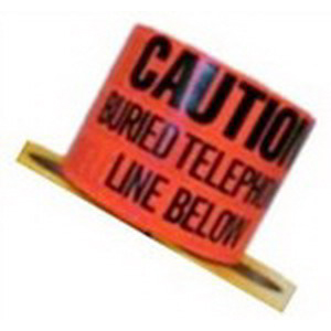 3M 367 Barricade Tape; 3 Inch Width x 1000 ft Length, Orange, Caution Buried Telephone Line Below, Polyethylene Film