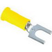 3M MNG10-10FBX Scotchlok™ Nylon With Insulation Grip Block Fork Terminal; 12-10 AWG, #10 Stud, Yellow, 50/BT