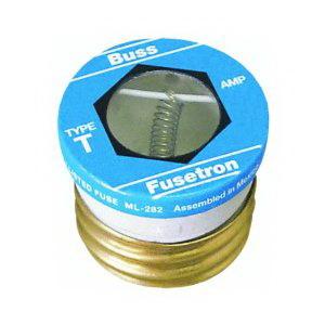 Bussmann T-6 Time-Delay Plug Fuse; 6 Amp, 125 Volt AC