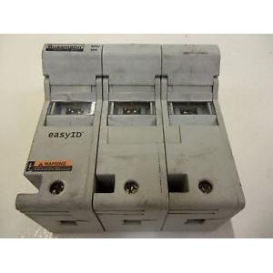 Bussmann CH60J3I CH Series Modular Indicator Fuse Holder; 35 - 60 Amp, 600 Volt AC/DC, 35 mm DIN-Rail/Panel Mounting