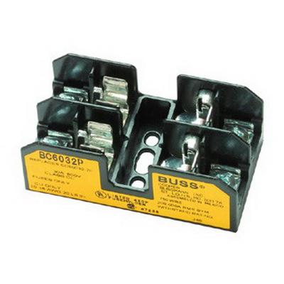 Bussmann BC6032P BC Series Fuse Block; 1/10 - 30 Amp, 600 Volt, DIN-Rail Mounting