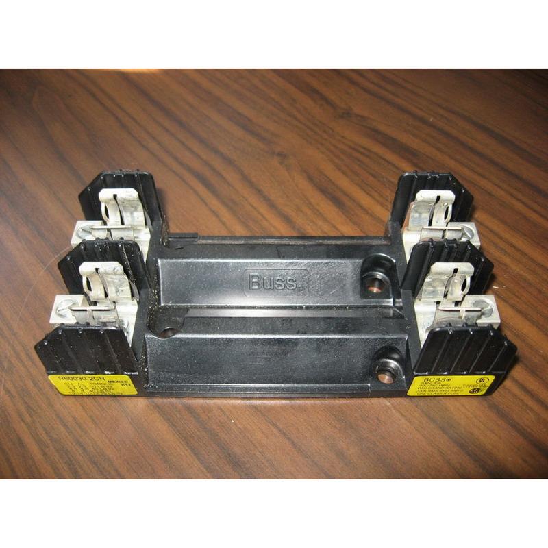 Bussmann R60030-2CR R600 Series Fuse Block; 1/10 - 30 Amp, 600 Volt