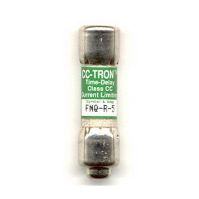 Bussmann FNQ-R-5 Limitron® Class CC FNQ-R Time-Delay Fuse; Rejection-Type Fuse, 1 Amp, 600 Volt AC
