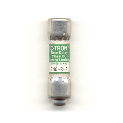 Bussmann FNQ-R-3 Limitron® Class CC FNQ-R Time-Delay Fuse; Rejection-Type Fuse, 3 Amp, 600 Volt AC