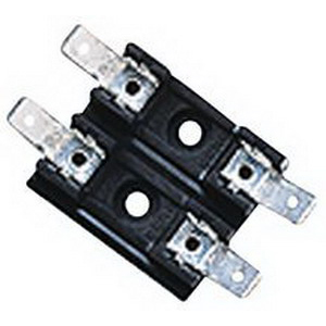 Bussmann S-8301-2 S-8000 Series Breakaway Fuse Block; 30 Amp (UL), 25 Amp (CSA),300 Volt AC/DC, Bolt-In Mounting