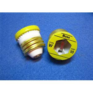 Bussmann W-10 Fast-Acting Plug Fuse; 10 Amp, 125 Volt AC