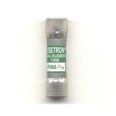Bussmann FNM-3/10 Fusetron® Midget Time-Delay Fuse; 3/10 Amp, 250 Volt AC