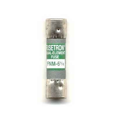Bussmann FNM-6-1/4 Fusetron® Time-Delay Fuse; 6-1/4 Amp, 250 Volt AC