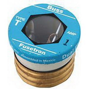 Bussmann T-1 Time-Delay Plug Fuse; 1 Amp, 125 Volt AC