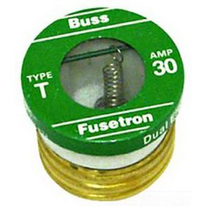 Bussmann T-2-1/2 Time-Delay Plug Fuse; 2-1/2 Amp, 125 Volt AC