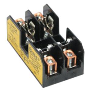 Bussmann BC6032B BC Series Fuse Block; 1/10 - 30 Amp, 600 Volt, DIN-Rail Mounting